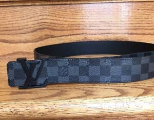 Authentic Louis Vuitton Black Damier Belt 90 / 36