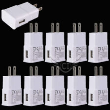 Lot 10 USB Power Adapter AC Home Wall Charger US Plug For Samsung S6 S7 Edge S8