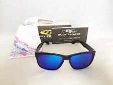 NWT! RUDY PROJECT SPINHAWK BLACK GLOSS MULTILASER BLUE SP313996-01