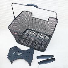 Hinterradkorb PLETSCHER 40x31x22cm schwarz engmaschig