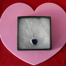 Nice 18 KR Gold Filled Pendant With Sapphire And Topaz Gems 2.5 x 1.8  Cm. Wide