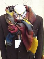 Paul Smith Mens Italian Scarf Square Wool Mainline Jacquard Multicolour RRP £275