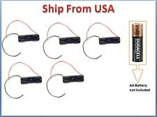 Lot 5 Pcs New 1 AA 2A Battery 1.5V Holder Box Case Black