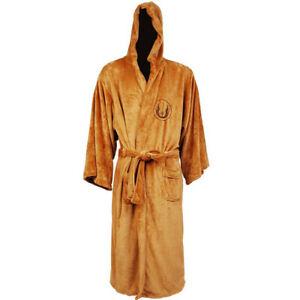 Men's Bathrobe Star Wars Darth Vader Galactic Empire Hooded Fleece Dressing Gown