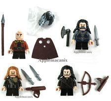 NW LEGO Hobbit THORIN BIFUR FILI KILI MINIFIGS Dwarves LOT OF 4 79001 79002 ORCS
