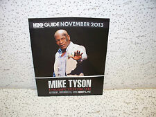 HBO Guide Booklet November 2013 Mike Tyson Undisputed Cool Collectible
