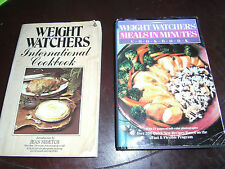 2 Weight Watchers Cookbooks Meals In Minutes HCDJ & International PB 1050 Recipe