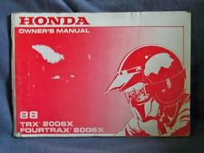 Honda TRX 200 SX Original Owners Manual 1988 ATV TRX200SX + Many More Fourtrax