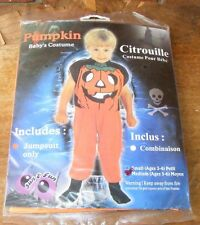 Pumpkin Baby's Costume Citrouille Jumpsuit Size Medium (Ages 5 - 6) NIP Sun Fun