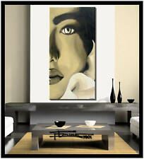 Large MODERN ABSTRACT CANVAS PAINTING FINE ART Framed US ELOISExxx