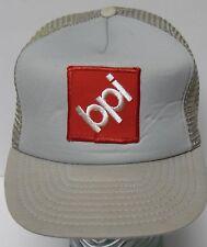 Vtg 1980s bpi Wholesale Floor Tile Distributor ADVERTISING Snapback Trucker Hat