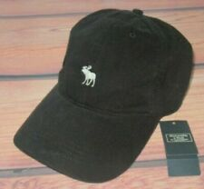 MENS ABERCROMBIE & FITCH MOOSE  BLACK ADJUSTABLE  HAT CAP ONE SIZE
