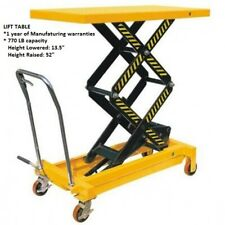Manual Lift Table with 770 LB capacity