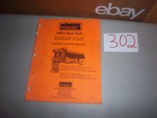 2003 Monroe Salter Salt Spreader Service and Illustrated Parts Manual 10' and 13
