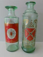 New listing 2 Vintage Mid Century Glass Bar Cocktail Bottles