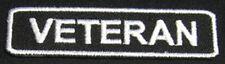 VETERAN Iron-on Patch/Badge for Army Marine Navy T-Shirt Hat Cap Vet Biker 25P
