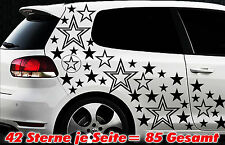 85 Sterne Star Auto Aufkleber Set Sticker Tuning Shirt Stylin WandtattooTribel y