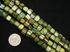 Mother of Pearl Beads 40cm Strand Lime Necklace Shell Jewellery FREE POSTAGE