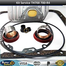 Chevy TH700R4 New Transmission Seal & Gasket Kit for Shallow Pan Filter 83-93