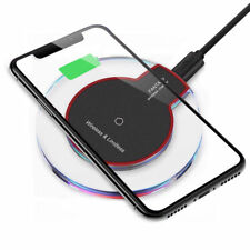 Qi Wireless Charger Charging Pad for iPhone X/8/Plus Galaxy S9/S8/Plus/Note 9/8