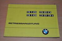 BMW 316 318 320 323i BA Bedienungsanleitung Betriebsanleitung