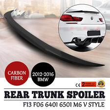 Smooth For BMW F13 F06 Carbon Fiber Rear Trunk Spoiler 640i 650i M6 Fast