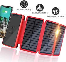 Solar Power Bank Portable Wireless Phone Solar Charger 20000mAh Huge Capacity 2