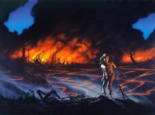 Phantasia Press Michael Whelan First Ed. Signed Firestarter Art Stephen King