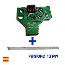 PLACA CONTROLADOR CARGA MANDO PS4  MICRO USB JDS-011 + CABLE FLEX V2 12PIN
