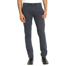 Hommes Pantalon Chino Slim Straight Fit Gris Charbon Orange Décontracté Uni