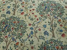 William Morris Curtain Fabric 'Kelmscott Tree' 3.4 METRES (340cm) Forest/Gold