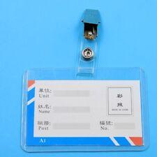 10pcs Metal ID Badge Lanyard Key Card Holder Badge Name Tag Clip Car