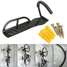 Bicycle Bike Wall Mount Hook Hanger Garage Storage Steel Holder Rack Stand Black