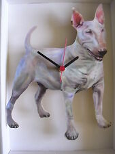 English Bull Terrier Dog Wall Clock. New & Boxed.Full Body