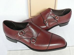 NEW MENS Barkers Rosewood Calf Leather Double Monkstrap Shoe UK 10.5 FX RRP £395
