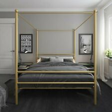Metal Canopy Bed Bedroom Furniture Gold Beds & Bed Frames Full
