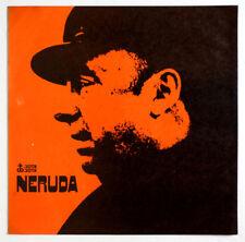 PABLO NERUDA by himself poetry recital chile 1969 jota jota JJL-06 LP EX+