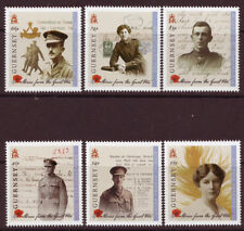 guernsey fr 2014 WWI uniforme militaire world war military uniform poppy 6v mnh