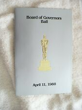 AAB- BOARD OF GOVERNORS BALL PROGRAM  (APRIL 11, 1988)     #200