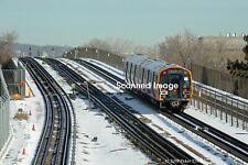 Original Photograph: Boston MBTA New CRRC Orange Line Cars N of Assembly