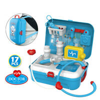 17PCS Medical Kit Doctor Nurse Dentist Pretend Roles Play Toy Set Kid Game Gift
