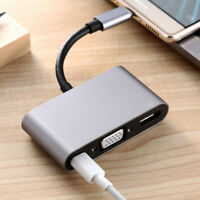 5 in 1 Adapter Converter Hub Type C to HDMI/VGA/USB 3.0/3.5mm Audio/USB-C PD