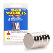 6er Neodym Magnet im Set, 12 x 3 mm, 6 Neodymium Magnete, Supermagnete