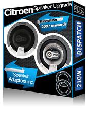 Citroen Dispatch Front Door Speakers Fli car speakers + speaker adaptors 210W