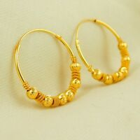 Indian Traditional goldplated Hoop Earrings Bollywood Designer Wedding jewelry