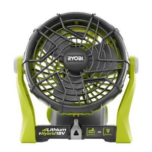Ryobi 18-Volt ONE+ Hybrid Portable Fan Battery or Electric Power Tool Only