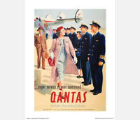 "QANTAS SUPER SERVICE POSTER PRINT - ADVERTISEMENT - 50 x 40 cm 20"" x 16"""