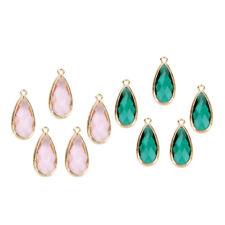 10x Crystal Glass Teardrop Pendant Bead Charms DIY Necklace Bracelet Earring