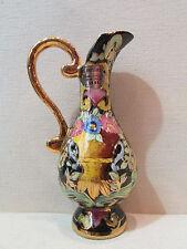 ancien pichet renaissance faience belgique peint HB hubert bequet vintage