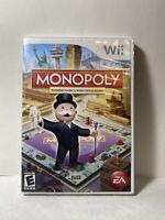Monopoly (Nintendo Wii, 2008) CIB W/ Manual Excellent